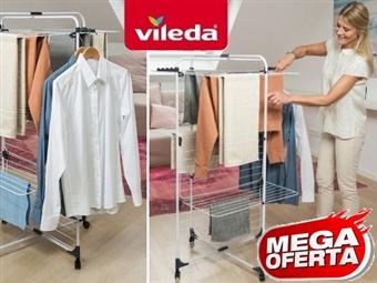 MEGA OFERTA: Estendal Torre Modular de 3 Níveis Ajustável da VILEDA que permite estender até 33 m de roupa por 26€. PORTES INCLUIDOS.