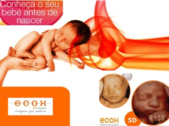 Sessão Básica de Ecografia 5D no Parque das Nações em Lisboa com a Ecox4D por 79€! Conheça o Seu Bebé Antes de Nascer!