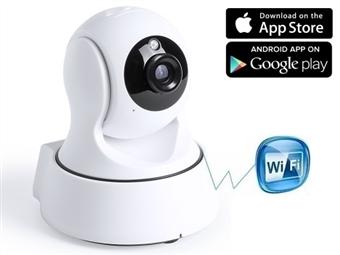 Câmara HD 360º Wi-Fi de Vigilância com Visão Noturna, Detecção de Movimento e Comunicação via Smartphone ou Apple por 45€. ENVIO IMEDIATO. PORTES INCLUÍDOS.