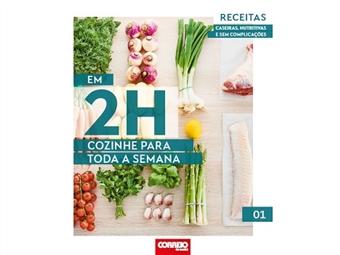 Aceite o desafio e em 2horas cozinhe para a semana toda. Neste primeiro volume destacamos um bacalhau com ervas aromáticas e a tradicional perna de borrego no forno.
