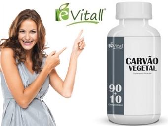 Carvão Vegetal 90 + 10 Comprimidos é-Vitall por 9€. Ajuda a Libertar as Toxinas do Seu Corpo. PORTES INCLUÍDOS. ENVIO IMEDIATO!