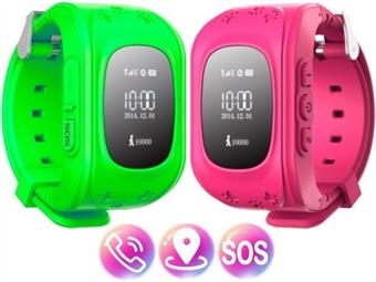 SmartWatch GPS Kids Verde ou Rosa por 35€. Relógio, Telefone e Localizador com Botão SOS e muitas outras funções. PORTES INCLUÍDOS.