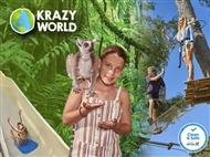 KRAZY WORLD ZOO: Experiências Únicas no Algarve. Entrada de ADULTO e CRIANÇA. Venha Divertir-se!