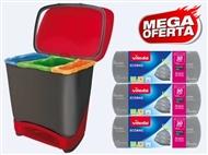 MEGA OFERTA: Balde Eco-Logic com 3 Rolos de Sacos de Lixo Ecobag da VILEDA.