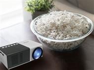 PROJETOR PORTÁTIL LED com USB, HDMI, MicroSD e Comando. PORTES INCLUÍDOS!