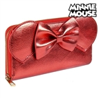 Carteira Minnie Mouse Porta-cartões Vermelho Metalizado 70686