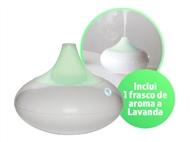 Difusor de Aromas e Humidificador com 1 Frasco de Aroma a Lavanda e Luz LED com 6 Cores.