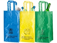 3 Sacos para Reciclagem com indicação do tipo de resíduos. PORTES INCLUIDOS.
