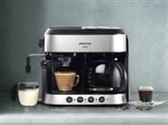MÁQUINA DE CAFÉ EXPRESSO DUPLA com Função 3 em 1: Expresso, Americano e Cappuccino. PORTES INCLUÍDOS
