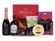 CABAZ BEIJA-FLOR da Casa da Prisca: Caixa Executive Vermelha Prisca com 8 Deliciosos Produtos.