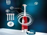 Escova de Dentes Elétrica Clean com 4 Cabeças Independentes. PORTES INCLUÍDOS.