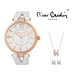 Conjunto Pierre Cardin®  Relógio | Colar | Par de Brincos | PCX7496L300