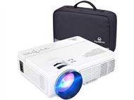 Mini Projetor HD com 2400 Lumens, Comando e Mala. Cinema em Casa. PORTES INCLUIDOS.