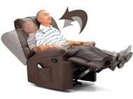 Poltrona Deluxe de Massagens por Vibração por Zonas com Aquecimento Lombar e Inclinação Manua