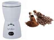 Moedor de Café Elétrico com Temporizador, Capacidade para Moer até 80g e 2 Cores à escolha.