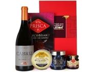 CABAZ PARA ELE 1 da Casa da Prisca: Caixa Vermelha com 5 Produtos.