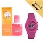 Oferta Especial | Conjunto de Proteção Solar Photoderm Max Aquafluide Bioderma e Relógio Digital Ext
