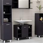 Armário casa de banho 60x32x53,5 cm contrapl. cinzento brilhante