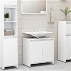 Armário de casa de banho 60x33x58 cm contraplacado branco