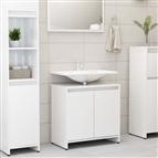 Armário casa de banho 60x33x58 cm contrapl. branco brilhante