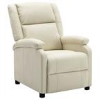 Poltrona reclinável em couro artificial branco