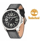 Relógio Timberland® Caswell Black | Bracelete Couro | 10ATM