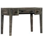 Secretária 110x50x75 cm madeira de mangueira maciça preto
