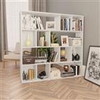 Divisória/estante 110x24x110 cm contraplacado branco