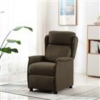 Poltrona de massagens reclinável tecido castanho