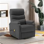 Poltrona massagens reclinável elevatória couro artif. antracite