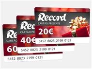 Ofereça um Cartão Presente do Record a quem mais gosta.
