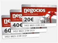 Ofereça um Cartão Presente do Negócios a quem mais gosta.
