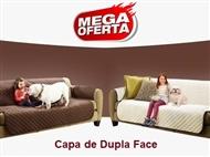 Capa de Dupla Face para Sofá ou Poltrona (Castanho e Bege). Ideal para quem tem Crianças e ou Animai