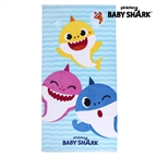 Toalha de Praia Baby Shark Azul (70 x 140 cm)