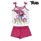 Pijama de Verão para Meninas Trolls 6 anos