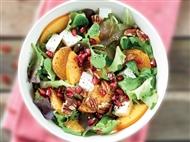 Coleção Receitas Facílimo: Salada mista de tangerina e romã. Faça já download do eBook e áudio.