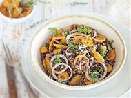 Coleção Receitas Facílimo: Salada de lentilhas com cenoura. Faça já download do eBook e áudio.