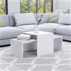 Conjunto mesas de centro 100x48x40 cm contraplacado branco