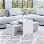 Conjunto mesas centro 100x48x40cm contrapla. branco brilhante