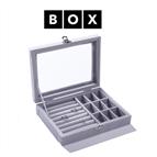 Caixa de Arrumação para Jóias Cinzento Escuro   Acabamento Premium   PD123