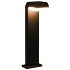 Candeeiros LED de exterior 9 W preto oval