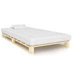 Estrutura de cama em paletes pinho maciço 100x200 cm