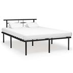 Estrutura de cama 140x200 cm metal preto