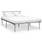 Estrutura de cama metal 140x200 cm cinzento