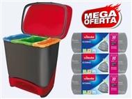 MEGA DESCONTÃO: Balde Eco-Logic com 3 Rolos de Sacos de Lixo Ecobag da VILEDA.