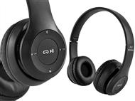 Auscultadores Sem Fios com Microfone, Rádio FM, Bluetooth, USB e Micro SD. PORTES INCLUIDOS.