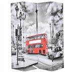 Biombo dobrável autocarro londrino 160x170 cm preto e branco