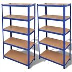 Estante de armazenamento em azul 2 peças