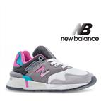 New Balance® Sapatilhas Criança Running Grey/Pink - 34,5