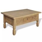 Mesa de centro com gaveta, madeira de pinho mexicana